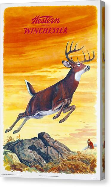 Winchester Western Whitetail Hunter Canvas Print