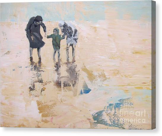Wind And Kids Canvas Print