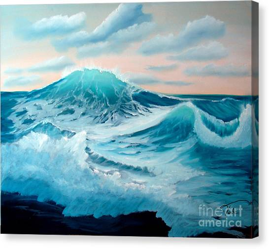 Wind And Surf II Canvas Print by Tobi Czumak