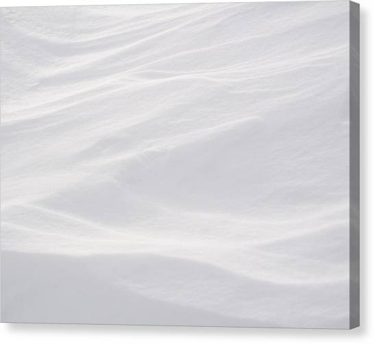 Canvas Print featuring the photograph Wind Carved Snow by Dutch Bieber