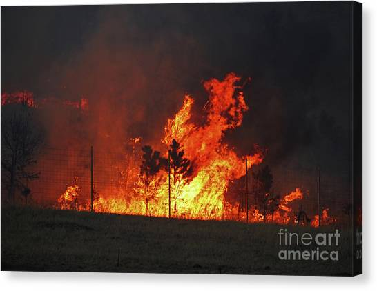 Wildfire Flames Canvas Print