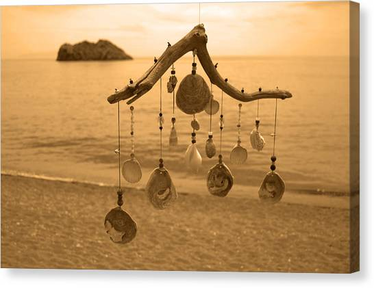 Wind Chime Canvas Print by Daren Griffin