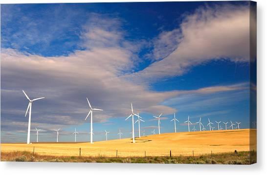 Wind Farm Against The Sky Canvas Print