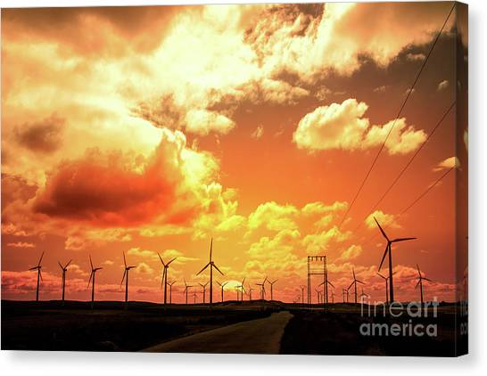 Climate Change Canvas Print - Wind Farm by Delphimages Photo Creations