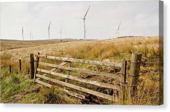 Wind Farm On Miller's Moss. Canvas Print