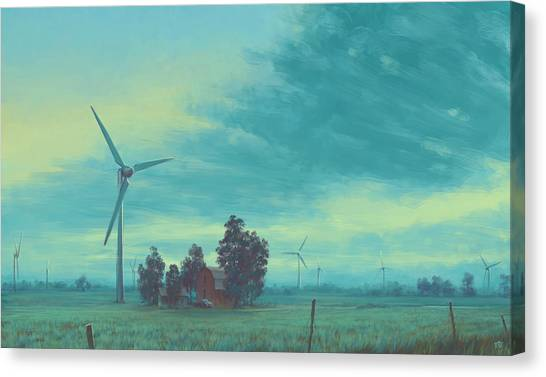 Clean Energy Canvas Print - Wind Harvest by Matthew Sample II