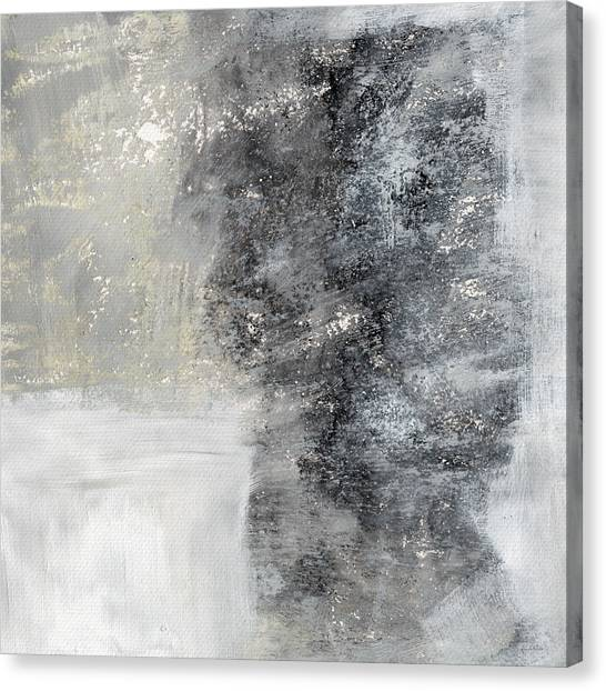 Grey Canvas Print - Wind In My Sails- Abstract Art by Linda Woods