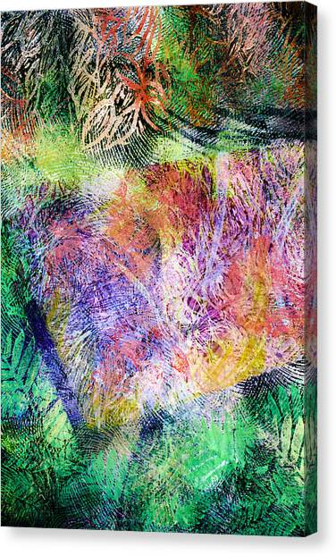 Wind In The Forest Canvas Print by Sue Reed