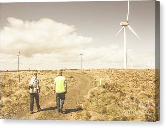 Wind Farms Canvas Print - Wind Power Travel Tour by Jorgo Photography - Wall Art Gallery