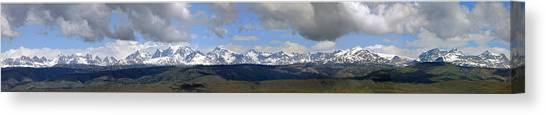 Dm9504-wind River Range Panorama  Canvas Print