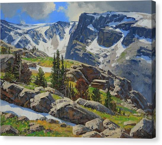 Wind River Range-wyoming Canvas Print by Lanny Grant