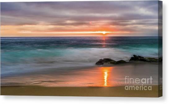 Windansea Beach At Sunset Canvas Print