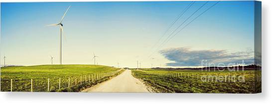 Wind Farms Canvas Print - Windfarm Way by Jorgo Photography - Wall Art Gallery