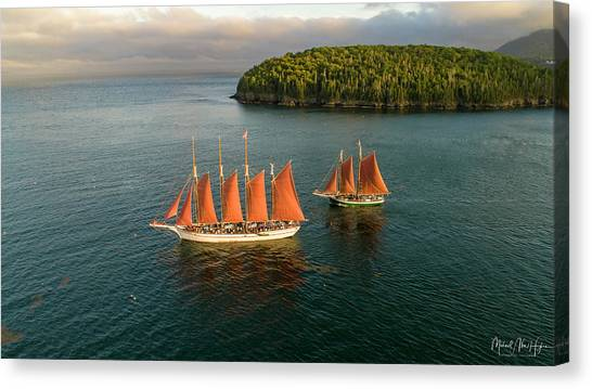 Windjammer Cruises  Canvas Print