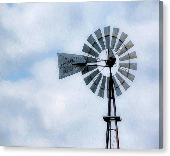 Canvas Print featuring the photograph Windmill Art -010 by Rob Graham
