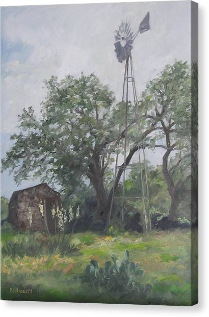 Windmill At Genhaven Canvas Print