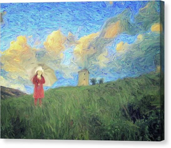 Bob Ross Canvas Print - Windmill Girl by Zapista