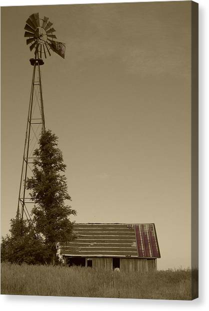 Canvas Print featuring the photograph Windmill II by Dylan Punke