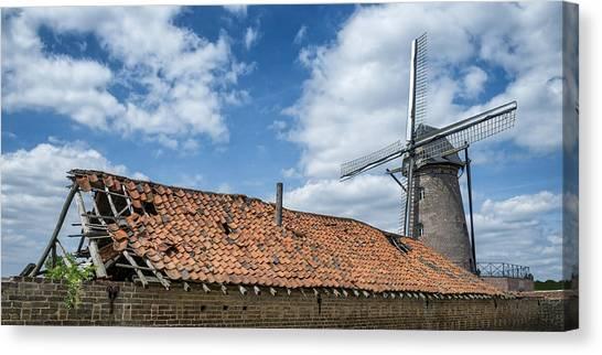 Windmill In Belgium Canvas Print