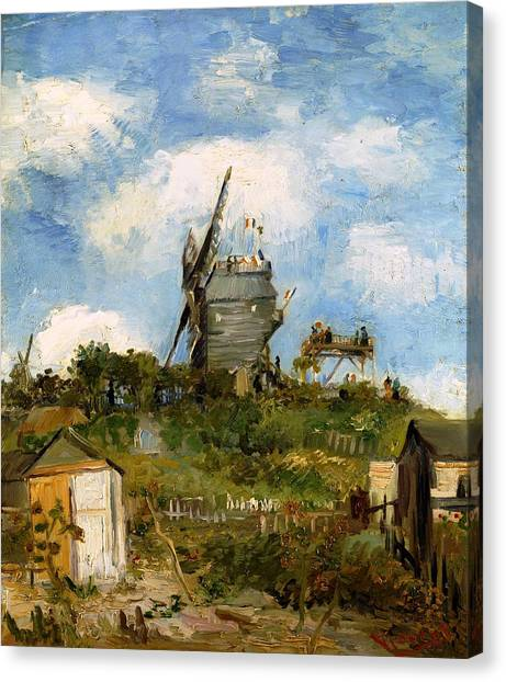 Windmill In Farm Canvas Print