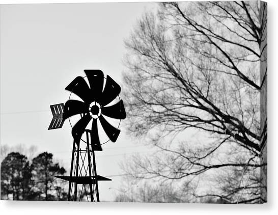 Windmill On The Farm Canvas Print