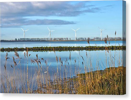 Windmills On A Windless Morning Canvas Print