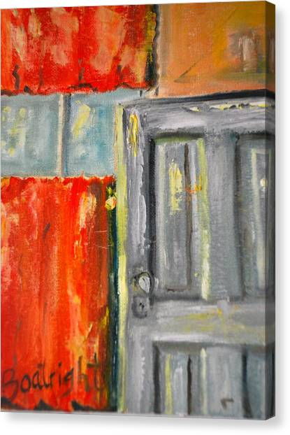 Window And The Pantry Door Canvas Print by Diane Fiore