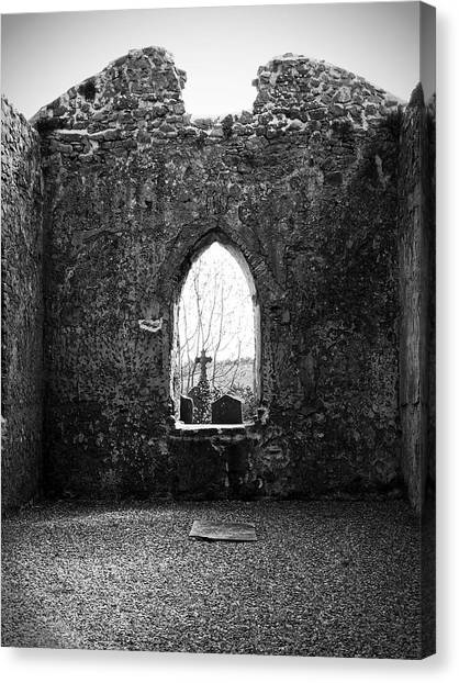 Window At Fuerty Church Roscommon Ireland Canvas Print