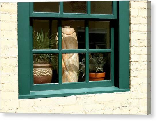 Window At Sanders Resturant Canvas Print