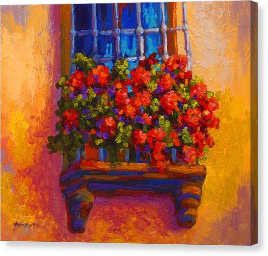 Scenic Canvas Print - Window Box  by Marion Rose