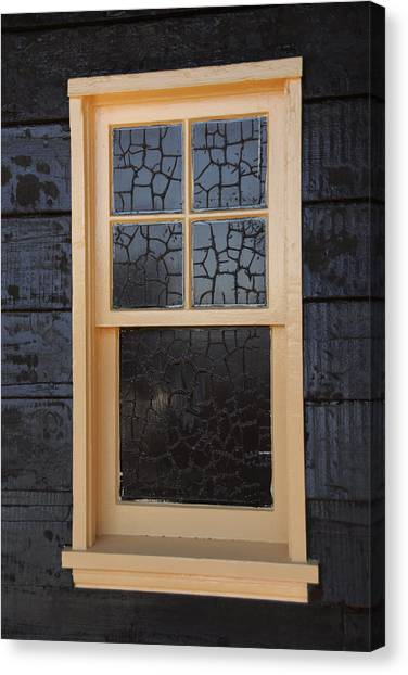 Window Crackle Canvas Print