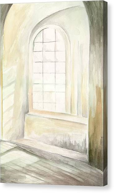 Canvas Print featuring the painting Window by Darren Cannell