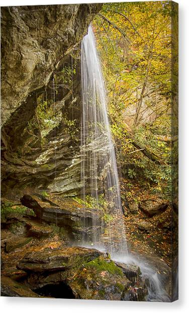 Window Falls In The Autumn Canvas Print