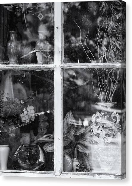 Window In Black And White Canvas Print