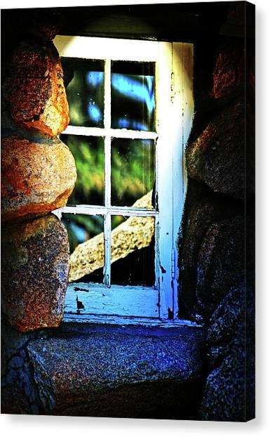 Window In Rock Canvas Print