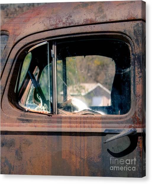 Window In Rural America  Canvas Print by Steven Digman