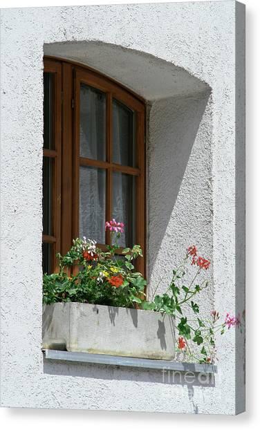 Window In Zermatt Canvas Print