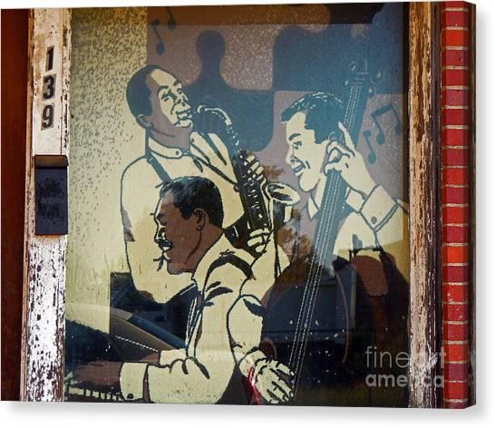 Window Jazz Canvas Print