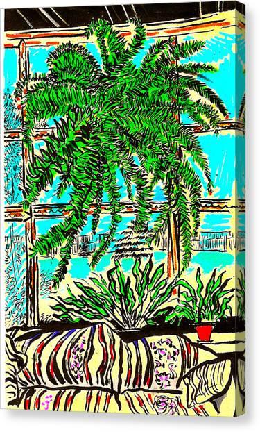 Window Loving Fern Canvas Print