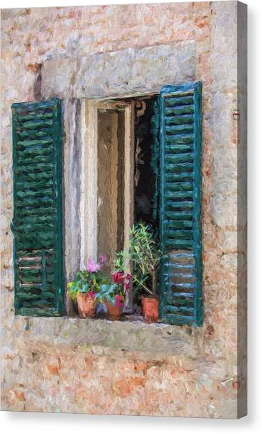 Window Of Cortona Canvas Print