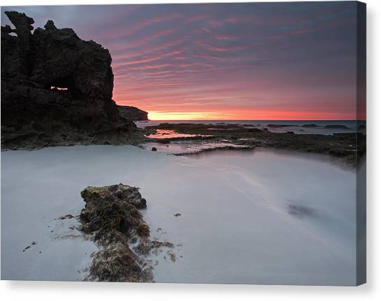 Pennington Bay Canvas Print - Window On Dawn by Mike  Dawson