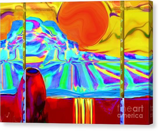 Window On Santa Fe No.4 Canvas Print