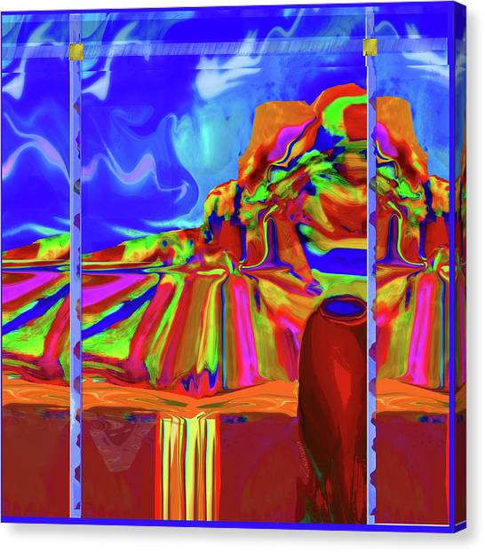 Window On Santa Fe Canvas Print