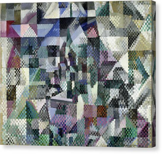 Lyrical Abstraction Canvas Print - Window On The City 3 by Robert Delaunay