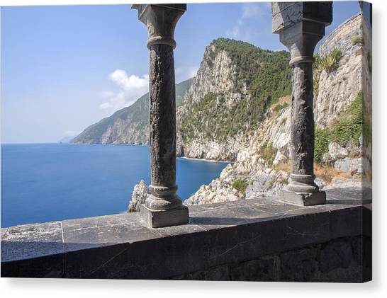 Window On The Sea At Portovenere Canvas Print