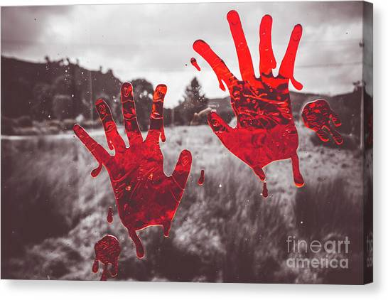 Blood Canvas Print - Window Pain by Jorgo Photography - Wall Art Gallery