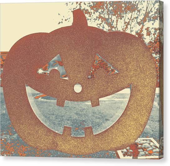 Window Pumpkin #1 Canvas Print