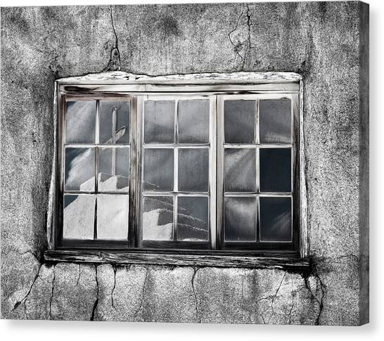 Southwest Canvas Print - Window Reflection New Mexico by Carol Leigh