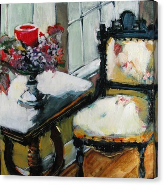 Window Seat Canvas Print by Michelle Winnie
