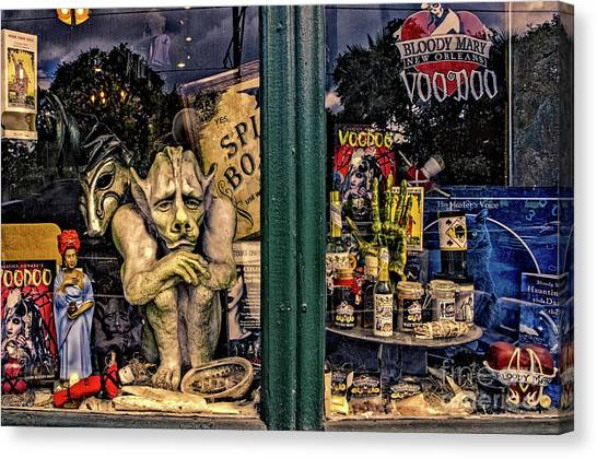 Bloody Mary Canvas Print - Window Shopping Voodoo by Kathleen K Parker